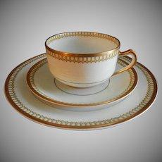 """Charles Haviland & Co. Limoges """"Cream & Yellow Deco"""" Design 15-Piece Salad/Dessert Set - Schleiger #278"""