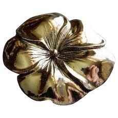 Danecraft Sterling Silver Mid-Century Singular Blossom Brooch