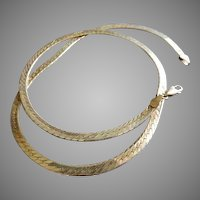 Vintage Sterling Silver Flat Chain Necklace - 19 3//4 Inches in Length