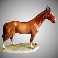 Katzhutte/Hertwig Porcelain Sorrel Horse Figure