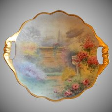 "Pickard Studio Hand Painted ""Walled Garden"" Pattern Round Candy/Nut/Relish Dish"