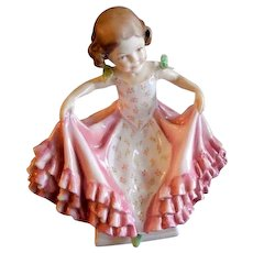 """Royal Worcester Bone China """"The Curtsey"""" Figurine #3360 Modelled by F. G. Doughty"""