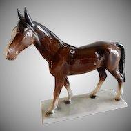 Katzhutte/Hertwig Porcelain Chocolate Brown Horse Figurine