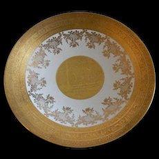 Gold Encrusted Bavaria Console Fruit Bowl w/Fairies, Mythological & Baroque Designs