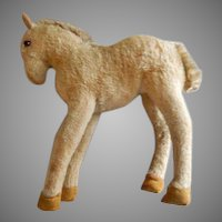 """Early Vintage Steiff Mohair """"Foal"""" or """"Colt"""" Young Horse"""