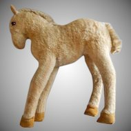 "Early Vintage Steiff Mohair ""Foal"" or ""Colt"" Young Horse"