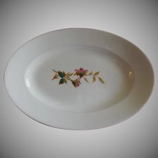 "1870's Charles Haviland & Co. Limoges ""Moss Rose"" Pattern Small Oval Platter"