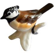 Goebel Crested Titmouse Bird Figurine
