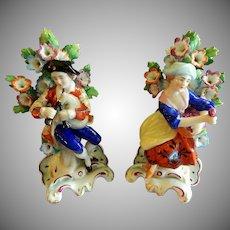 Pair of 19th Century Edme Samson Brocade Figurines after Chelsea