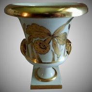 "J H Stouffer Hand Painted ""Golden Orchid"" Pattern Urn - Artist Otto Podlaha"