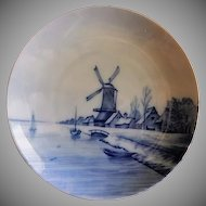 Rosenthal Blue & White Delft Plate w/Dutch Canal Scene