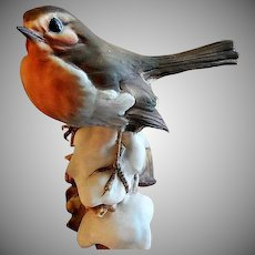 "Tay Porcelain ""House Finch on Snow"" Figurine"