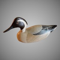 """Charles Moore Hand Carved & Painted """"Pintail Drake"""" Decoy"""