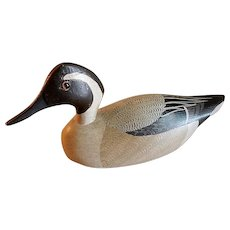 "Charles Moore Hand Carved & Painted ""Pintail Drake"" Decoy"