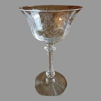 """Heisey Glass """"Orchid"""" Pattern Cocktail/Liquor - Stem #5025, Etch #507 - Set of 6"""