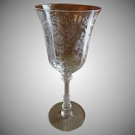 """Heisey Glass """"Orchid"""" Pattern Wines - Stem #5025, Etch #507 - Set of 6"""