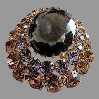 Juliana (DeLizza & Elster) Gold-Tone & Colored Gemstone Brooch