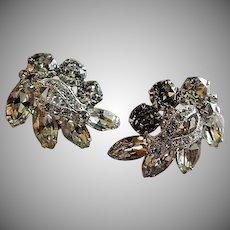 Eisenberg Diamond Rhinestone Cluster Clip-Style Earrings