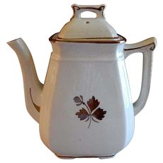 Alfred Meakin Ironstone Tea Leaf Coffee Pot