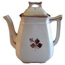 Alfred Meakin Ironstone Tea Leaf Coffee Pot