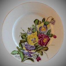 Charles F Haviland H.P. Floral Cabinet Plate, Artist Signed, 2 of 11
