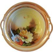 Noritake Japan Hand Painted Serving Bowl w/Floral Motif