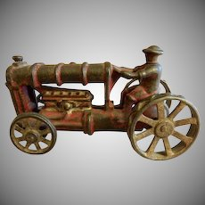 "Cast Iron Toy Arcade Red ""Fordson Tractor"""