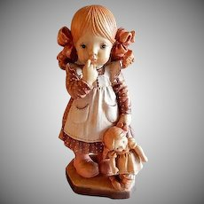 """Anri of Italy """"Bedtime"""" Limited Carving 1732/4000 by Sarah Kay"""