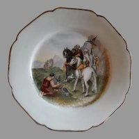 Charles Haviland Hand Painted Cabinet Plate w/Mystical Falconry Motif - 1 of 7