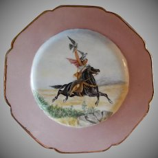 Charles Haviland Hand Painted Cabinet Plate w/Mystical Falconry Motif - 2 of 7