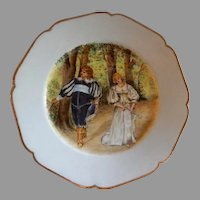 Charles Haviland Hand Painted Cabinet Plate w/Shakespearean Motif - 4 of 7