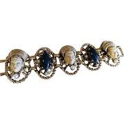 """Vintage Selro Figural """"Thai Girl"""" Link Bracelet"""