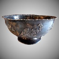 Redlich Sterling Silver Art Nouveau Floral Pattern Footed Bowl