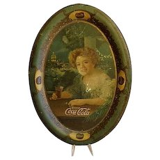 "Original 1904 Coca Cola Tip/Change Tray ""The Exhibition Girl"""