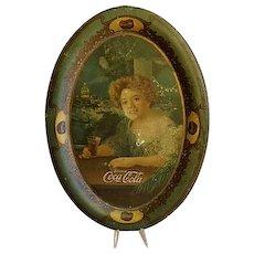 "Original 1904 Coca Cola Tip/Change Tray ""The Exhibition Girl"""