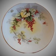 D & C France Hand Painted Charger Plate w/Currants Motif