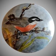 "Home Studio Hand Painted ""Spring Time Robin"" Dresser/Trinket Box"