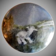 "Home Studio Hand Painted ""Lone Lamb in Meadow"" Dresser/Trinket Box"