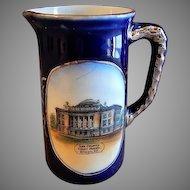 "Early 1900's Souvenir ""Lee County Court House Dixon IL"" Miniature Tankard Pitcher"