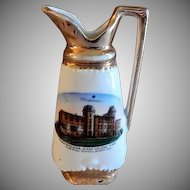 "Early 1900's Souvenir ""Main Building Dixon College And Normal School Dixon ILL"" Miniature Ewer"
