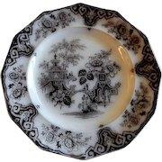 "James Edwards - Mulberry Transfer-ware Plate - ""Bochara"" Pattern"