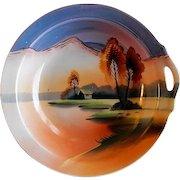 Noritake/Chikaramachi Porcelain - Hand Painted Bowl - Country Lakeside Motif