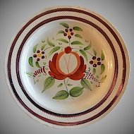 """Early 19th Century Soft Paste """"Queen's Ware"""" Dinner Plate"""