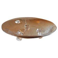 """EAPG - Riverside Glass Works """"Grasshopper"""" Pattern Glass Open Bowl"""