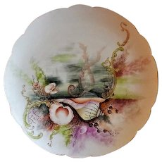 Charles Haviland & Co. Hand Painted Cabinet Plate w/Seascape Motif - #3 of 8 Plates
