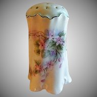 Hand Painted Porcelain Sugar Shaker/Muffineer w/Violets Motif