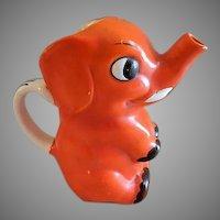 "Goebel Company Figural ""Orange Elephant"" Cream Pitcher"