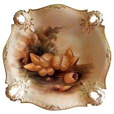 Pickard Studio Hand Painted Bowl w/Naturalistic Nut Motif