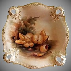Pickard Studio Hand Painted Bowl w/Naturalistic Nut Motif