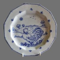 """Home Studio Hand Painted """"Rooster In The Country"""" Cabinet Plate"""